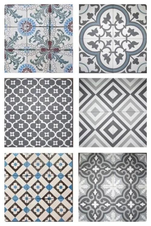 cement encaustic cuban mosaic tiles