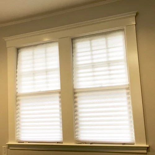 hanging curtains with molding