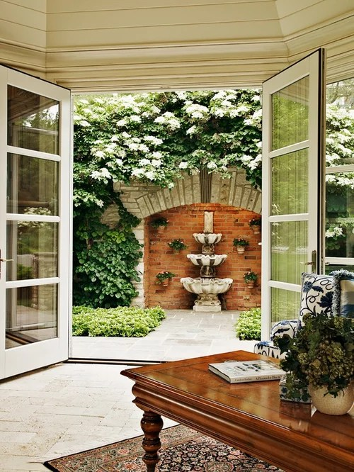 Outdoor Wall Fountain Home Design Ideas, Pictures, Remodel ... on Backyard Feature Walls  id=30407