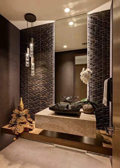Southwestern Powder Room by Tate Studio Architects