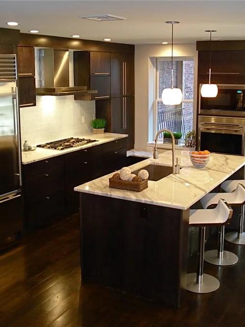Dark Cabinets Light Countertop   Houzz on Modern Backsplash For Dark Countertops  id=71851
