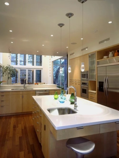 Light Maple Cabinets | Houzz on Light Maple Cabinets With White Countertops  id=43942