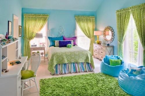 nature themed teen girl room