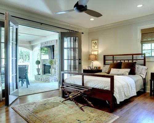 Bedroom With French Doors Houzz