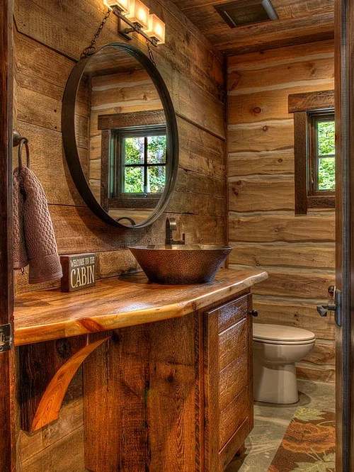 Cabin Bathroom Home Design Ideas Pictures Remodel And Decor