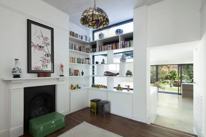 Eclectic Living Room by Scenario Architecture