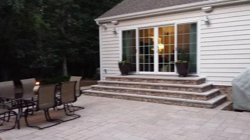Exterior patio steps not to code. Need ideas! on Backdoor Patio Ideas id=21851