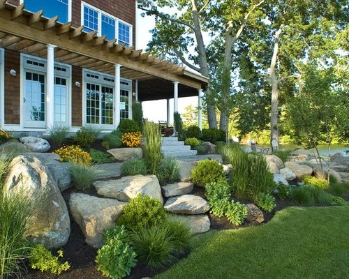 Coastal Garden Design Ideas, Renovations & Photos on Coastal Backyard Ideas  id=22102
