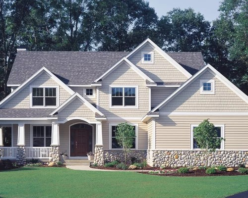 Vinyl Siding Home Design Ideas, Pictures, Remodel and Decor on Modern Vinyl Siding Ideas  id=36387