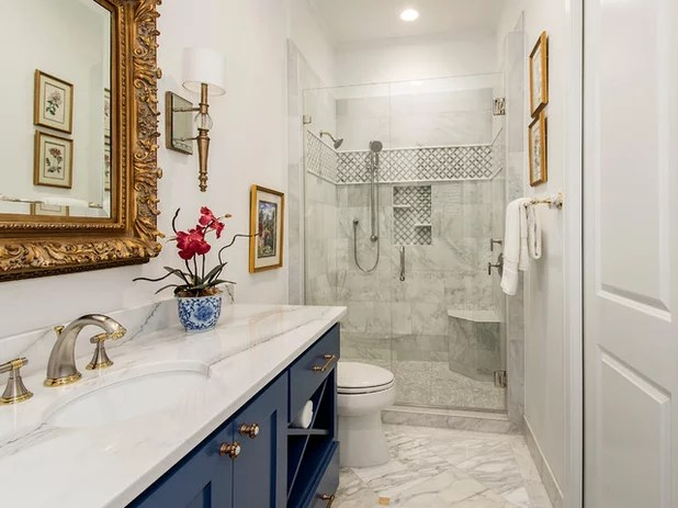 Guest Bathroom Gets A Luxe Hotel Feel
