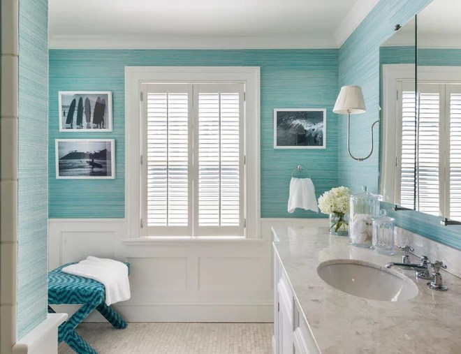 Beach Style Bathroom by Kate Jackson Design