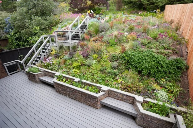 Outdoors: 11 Inspiring Solutions for Sloping Gardens on Garden Ideas For Sloping Gardens id=39613