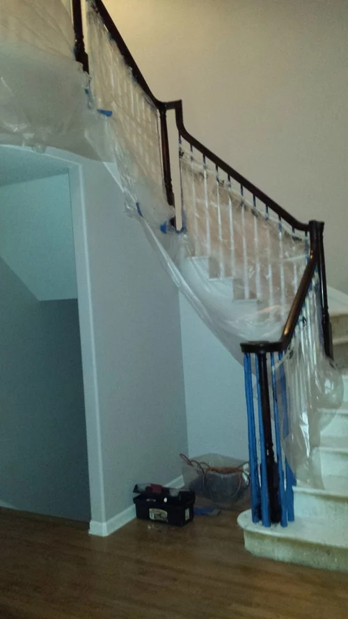 Stairs Risers Painted White Or Dark Stain | Dark Wood Stairs With White Risers | Wall | Beautiful Wood | Wooden | Modern | Floor