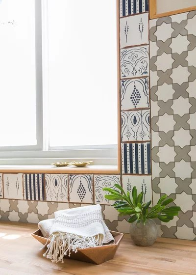 Eclectic Laundry Room by STEFANI STEIN