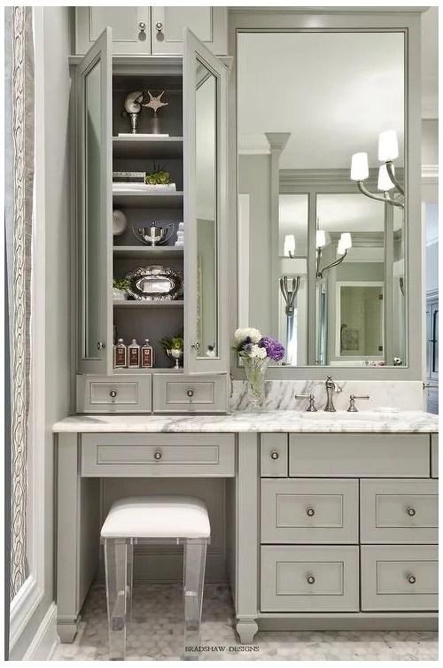 bathroom vanity with sink and makeup