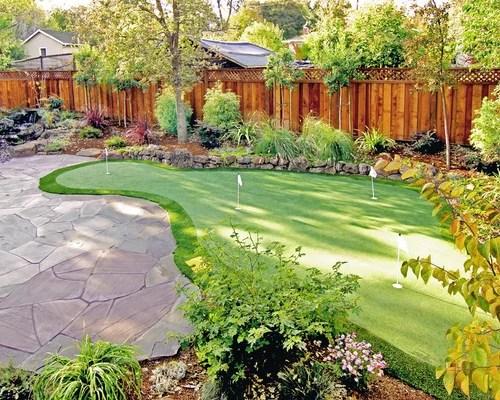 Backyard Putting Green | Houzz on Putting Green Ideas For Backyard id=47985