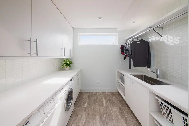 Contemporain Buanderie Contemporary Laundry Room