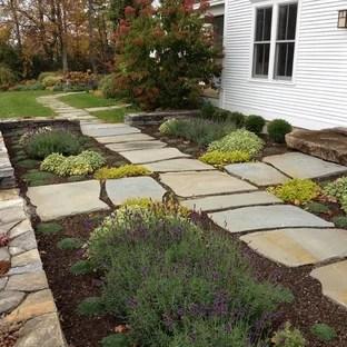 Front Yard Courtyard Ideas | Houzz on Farmhouse Backyard Landscaping id=39169