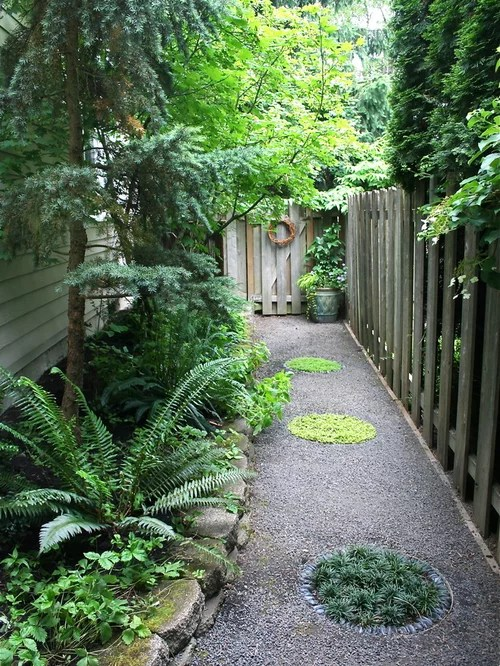 Narrow Side Yard Home Design Ideas, Pictures, Remodel and ... on Narrow Backyard Landscaping Ideas  id=90949