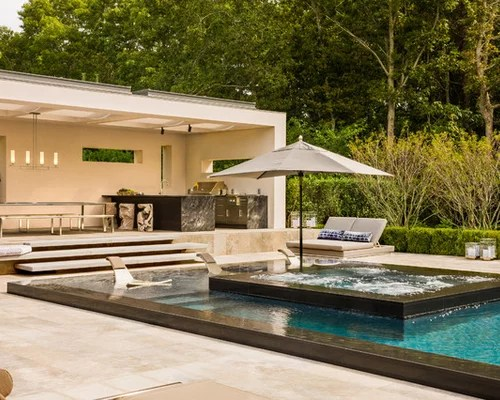 Pools And Outdoor Kitchens | Houzz on Outdoor Kitchen By Pool id=39672
