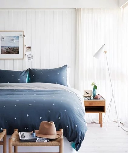 Contemporary Bedroom by Hunting For George