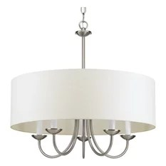 1st Avenue Pippa Chain 5 Light Pendant Brushed Nickel Chandeliers