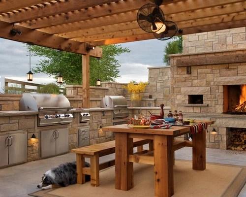 Farmhouse Patio Design Ideas, Remodels & Photos | Houzz on Farmhouse Yard Ideas id=73232