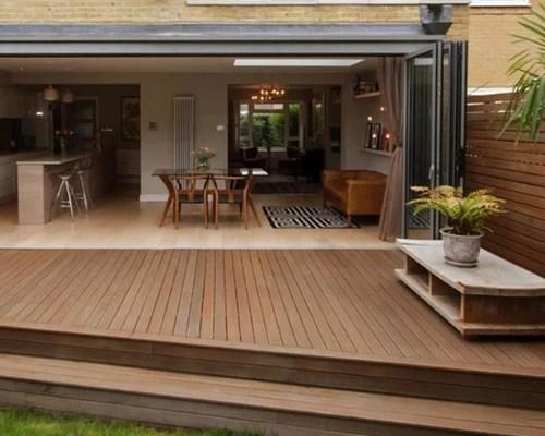 Deck Extension Home Design Ideas, Renovations & Photos on Backyard Patio Extension Ideas id=67822