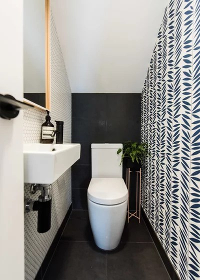 Contemporary Powder Room by embracingspace