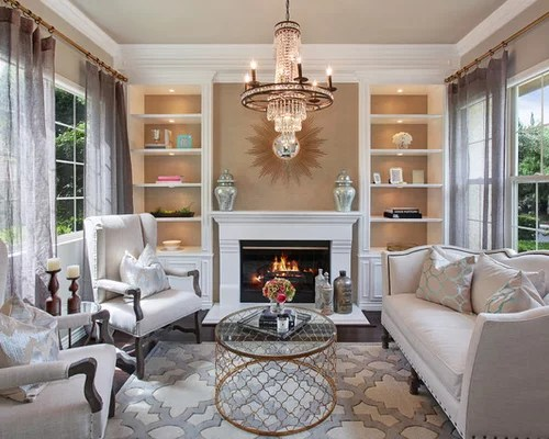 Small Room Fireplace | Houzz on Small Space Small Living Room With Fireplace  id=15299