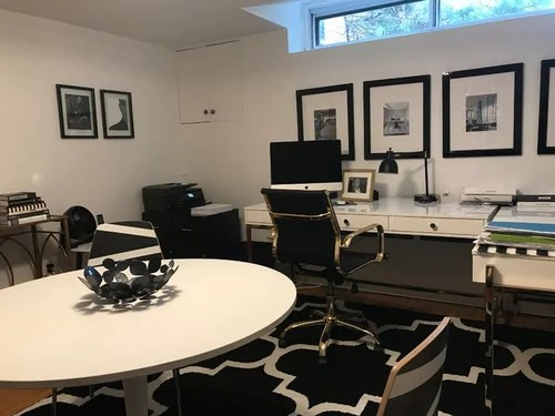 Teen basement bedroom now a chic interior design home office on Teenager Basement Bedroom  id=65259