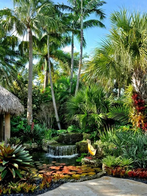 Tropical Garden Home Design Ideas, Pictures, Remodel and Decor on Tropical Small Backyard Ideas id=14527