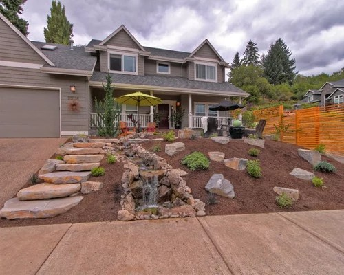 Grassless Front Yard Home Design Ideas, Pictures, Remodel ... on Grassless Garden Ideas  id=90868