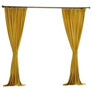 luxury velvet curtain panels gold set