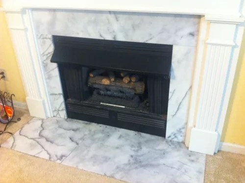 replacing marble hearth and marble