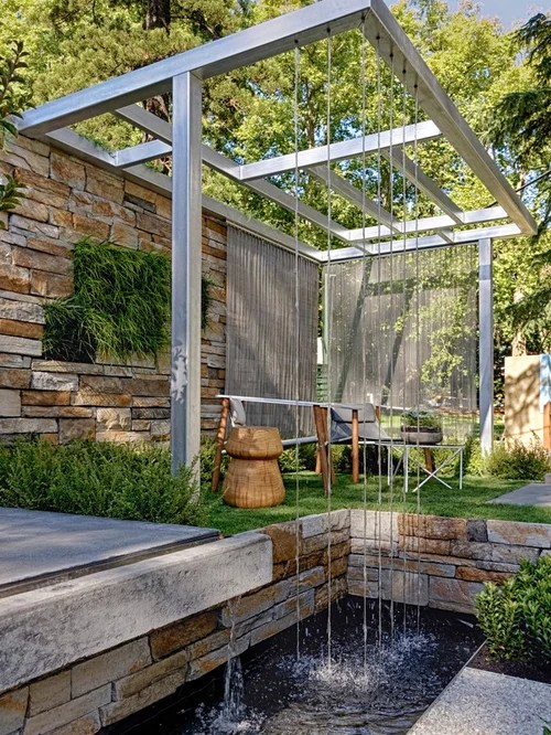 Modern Water Feature | Houzz on Modern Backyard Water Feature id=19435