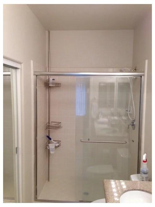 replace framed with frameless shower doors
