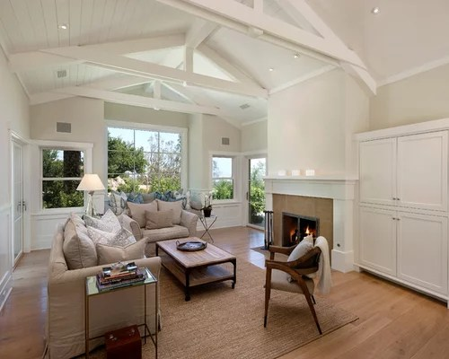 White Wood Ceiling Beams Home Design Ideas, Renovations