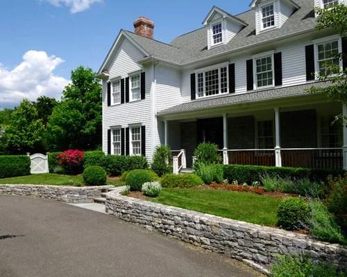 884 Farmhouse Front Yard Landscape Design Ideas & Remodel ... on Farmhouse Yard Ideas id=62849