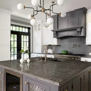 White Cabinets Grey Countertop Bstcountertops