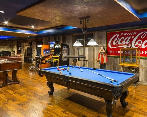 Sara elliott remember the days when people played outside and cooked inside? Game Room Home Design Ideas, Pictures, Remodel and Decor