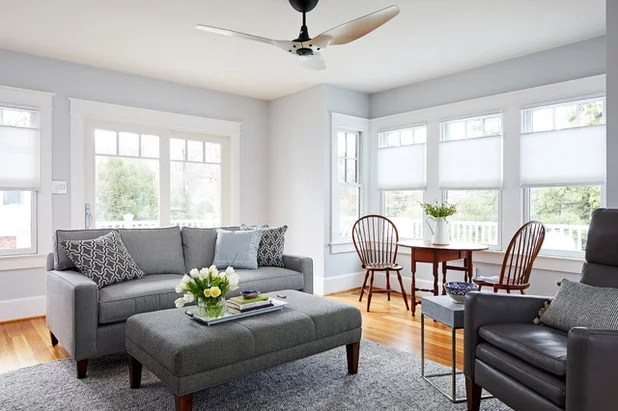 Transitional Family Room by WINN Design+Build