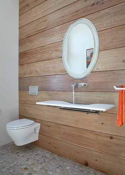 Cuarto de baño contemporáneo de servicio por Harrison Diseño