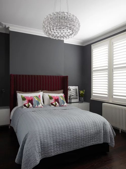 black and grey bedroom | houzz