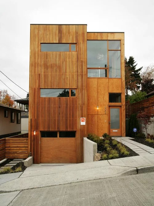 Plywood Siding Home Design Ideas, Pictures, Remodel and Decor on Modern House Siding Ideas  id=39187