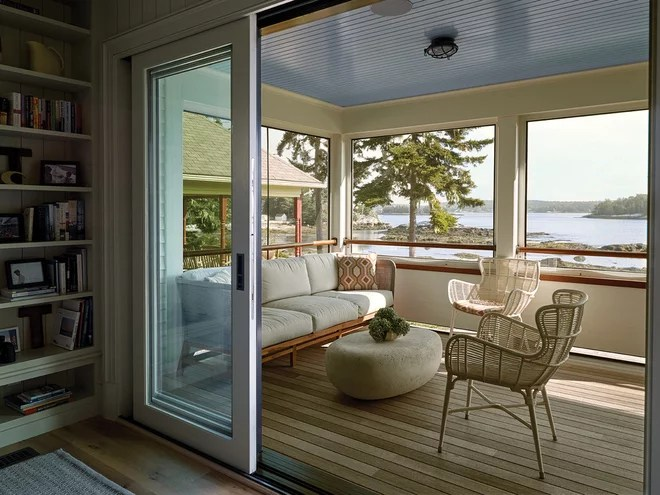 Beach Style Porch by Knickerbocker Group