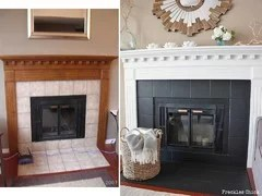 i paint the fireplace tile