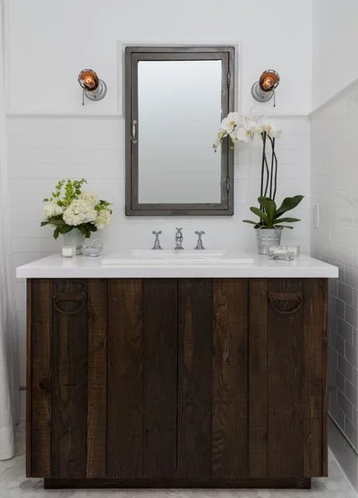 Farmhouse Bathroom by FOUR POINT DESIGN BUILD INC
