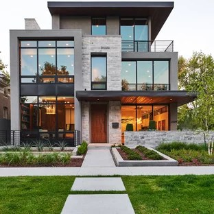 75 Beautiful Contemporary Exterior Home Pictures & Ideas ... on Contemporary Siding Ideas  id=69349