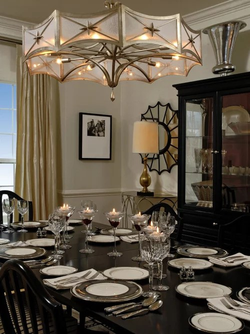 Elegant Dining Room Photo In Dc Metro With Beige Walls